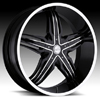 Milanni Phoenix 458 Gloss Black Machined 28 X 9.5 Inch Wheels