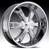 Milanni Stellar Type 452 Chrome 24 X 9.5 Inch Wheels