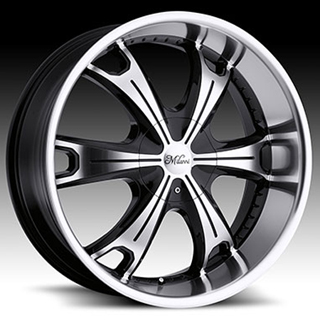 Milanni Stellar 452 Gloss Black Machined Wheel Packages