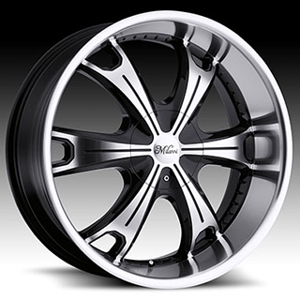 Milanni Stellar 452 Gloss Black Machined 24 X 9.5 Inch Wheels