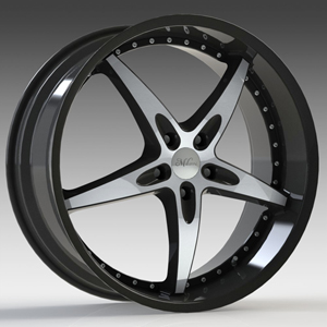 Milanni ZS 1 Type 453 Gloss Black with Mirror Machined Face 18 X 8 Inch Wheels