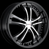 MKW Type 101 Black With Machined Face 16 X 7 Inch Wheel