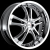 MKW Type 101 Chrome 17 X 7.5 Inch Wheel