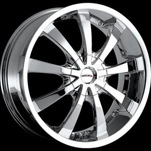MKW Type 102 Chrome 16 X 7 Inch Wheel