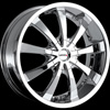MKW Type 102 Chrome 17 X 7.5 Inch Wheel
