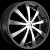 MKW Type 102 Black with Machined Face Wheel Packages