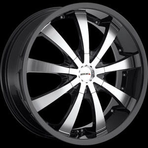 MKW Type 102 Black Machined 17 X 7.5 Inch Wheel