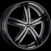 MKW Type 103 Black Machined 26 X 10 Inch Wheel