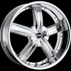 MKW Type 103 Chrome 24 X 9.5 Inch Wheel