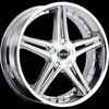 MKW Type 104 Chrome 17 X 7.5 Inch Wheel