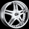MKW Type 105 Chrome 24 X 9.5 Inch Wheel