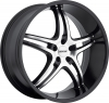 MKW M113 (5 Spokes) Black Machined