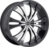 MKW M114 18X7.5 Black Machined