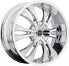 MKW M114 17X7.5 Chrome