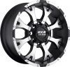 MKW M85 17X9 Satin Black