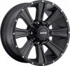MKW M87 17X9 Satin Black