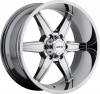 MKW M89 (6 Spokes) 17X9 Chrome