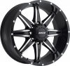 MKW M89 (8 Spokes) 17X9 Satin Black