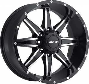 MKW M89 (8 Spokes) 18X9 Satin Black