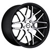 Strada Moda Black with Machined Face 20 X 8.5 Inch Wheels
