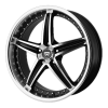 Motegi MR107 17X7.5 Gloss Black Machined