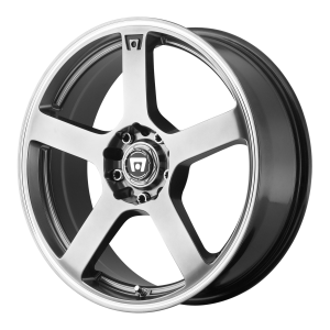 Motegi MR116 16X7 Dark Silver With Machined Flange