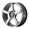 Motegi MR116 18X9 Dark Silver With Machined Flange