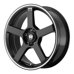 Motegi MR116 GLOSS BLACK WITH MACHINED FLANGE