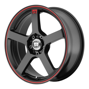 Motegi MR116 Matte Black With Red Racing Stripe