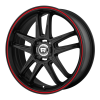 Motegi MR117 17X7 Matte Black With Red Racing Stripe