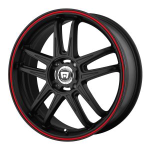 Motegi MR117 Matte Black With Red Racing Stripe