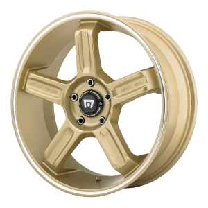 Motegi MR122 17X8 Gold With Machined Stripe