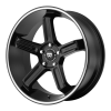 Motegi MR122 17X8 Satin Black With Machined Stripe