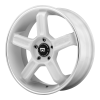Motegi MR122 17X8 White With Machined Stripe