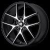 Motegi MR128 17X7.5 Satin Black with Machined Face