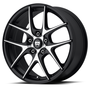 Motegi MR128 Satin Black with Machined Face