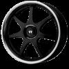Motegi MR237 FF7 16X7 Gloss Black with Clear Coat