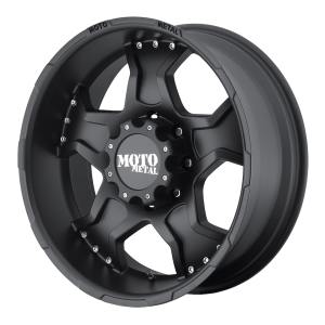 Moto Metal MO957 Matte Black With Machined Lip