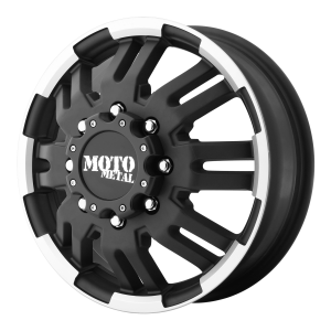 Moto Metal MO963 Front Matte Black Machined