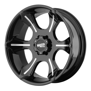 Moto Metal MO965 22X10 Glos Black With Milled Spokes