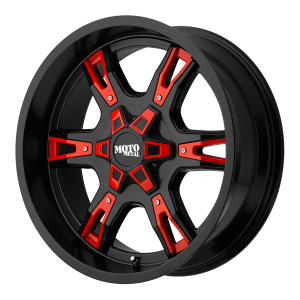 Moto Metal MO969 Satin Black With Red and Chrome Accents