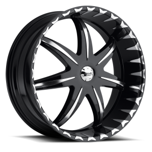 Noir Black Star 20X8.5 Black Machined