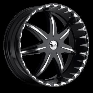 Noir Black Star 24X9.5 Black Machined