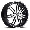 Noir Chaos 22X9.5 Black Machined