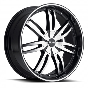 Noir Chaos 24X9.5 Black Machined