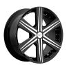 Noir Jet 22X9.5 Black Machined