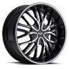 Noir Onix 18X7.5 Black Machined