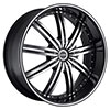 Strada Nove Black with Machined Face 17 X 7 Inch Wheels