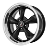 OE Creations PR106 17X10.5 Gloss Black With Machined Lip