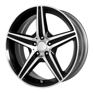 OE Creations PR115 19X8.5 Gloss Black With Machined Spoke And Lip